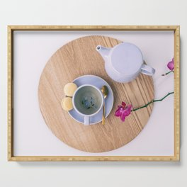 Earl Grey british tea cup with teapot Serving Tray