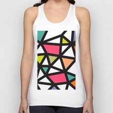 White lines & colors pattern #2 Unisex Tank Top