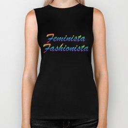Feminista Fashionista - Style + Feminism, LBGTQ Italics Biker Tank