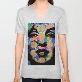 SEX GIRL SUPERSTAR FEMALE WOMAN NOW POP ART PAINTING Unisex V-Neck