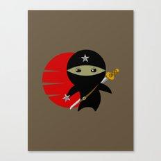 Ninja Star - Dark version Canvas Print