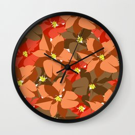 Poinsettia Love Wall Clock
