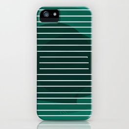 Teal Grid Art iPhone Case