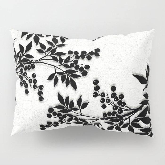 Black and White Leaf Toile Pillow Sham