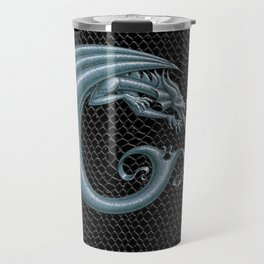 Dragon Letter C, from Dracoserific, a font full of Dragons. Travel Mug