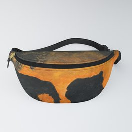 Elephants at sunset Fanny Pack