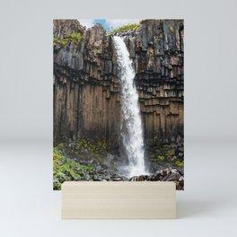 Svartifoss Waterfall in Skaftafell - Iceland Mini Art Print