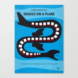 No501 My Snakes on a Plane mmp Canvas Print