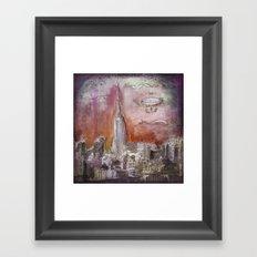 Boat over the City Framed Art Print