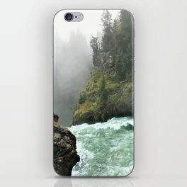Yellowstone Falls Fog iPhone Skin