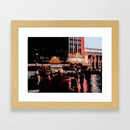 Hollywood Blvd. Framed Art Print