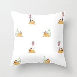 Christmas Camel Pattern Throw Pillow