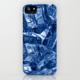 Ice cubes background iPhone Case