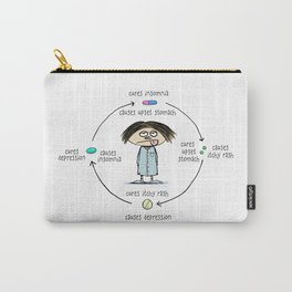 Medicinal Cures and Causes | Humorous Illustration Carry-All Pouch