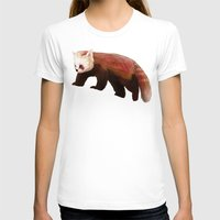 red panda T-shirts featuring Red Panda by Ben Geiger