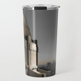 Griffith Park Observatory with Downtown LA Skyline Travel Mug