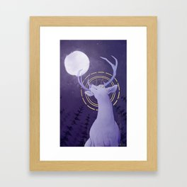 Up to the Moon Framed Art Print
