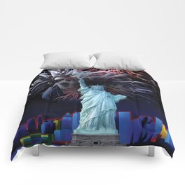 Statue of Liberty with Tennis Racquet Torch Comforters