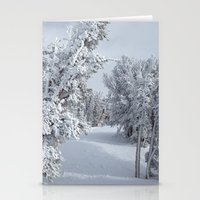 snow Stationery Cards featuring Snow by Chris Root
