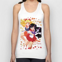 sailor venus Tank Tops featuring Sailor Mars and Sailor Venus by Neo Crystal Tokyo