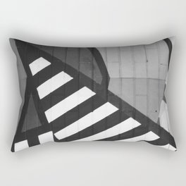 Abstract Art (Black and White) Rectangular Pillow