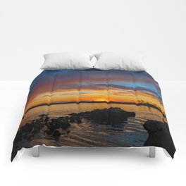 Sunset Rocks at Pirate's Cove Comforters