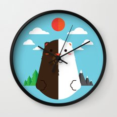 Grizzly & Polar Wall Clock