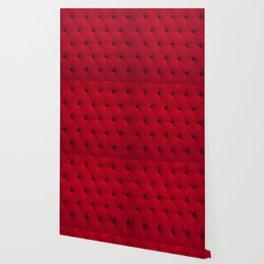 Padded red velvet texture Wallpaper