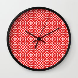 Candy Cane Pattern 2 Wall Clock