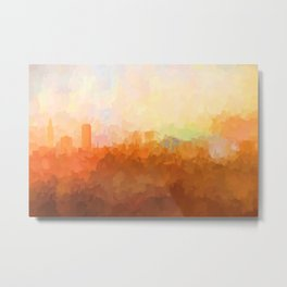 Baton Rouge, Louisiana Skyline - In the Clouds Metal Print
