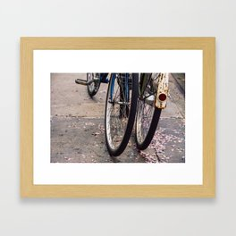 Bicycles in Spring Framed Art Print