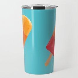 Ice Block Polygon Art Travel Mug