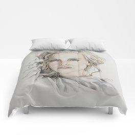 Charlize Theron artwork portrait Comforters