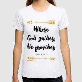 Isaiah 58:11 Bible Verse T-shirt