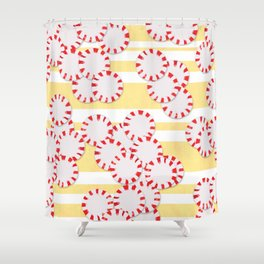 moves in red and yellow parts Shower Curtain
