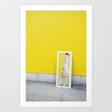 Yellow fashion Art Print