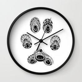 Cat Paw Print Wall Clock