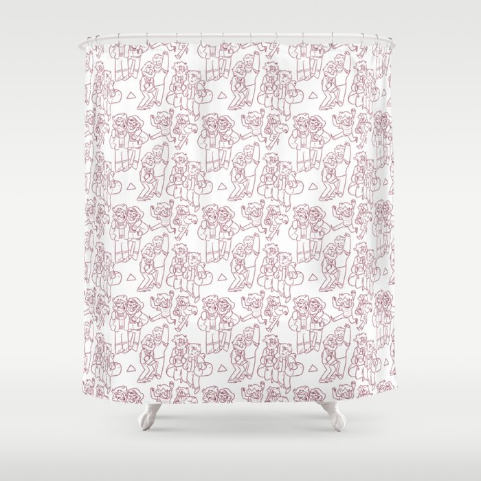 Stan And Ford Pattern Shower Curtain