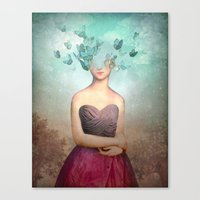 imagine Canvas Prints featuring Imagine by Christian Schloe