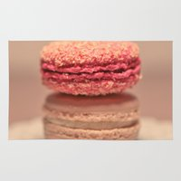 macaroons Area & Throw Rugs featuring Coconut Macaroons by Sweet Little Pixels