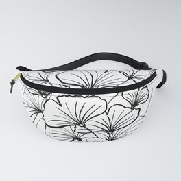 Eco Nature Lily Line Art Water Flowers Bubbles  Fanny Pack