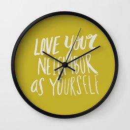 Love Your Neighbor x Mustard Wall Clock
