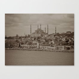 """Sultan Ahmed Mosque (""""Blue Mosque"""", Istanbul, TURKEY) from the Sea of Marmara Canvas Print"""