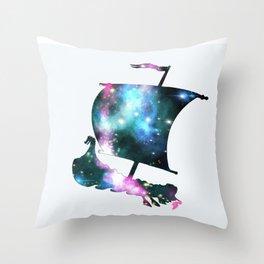 Galaxy Viking Throw Pillow