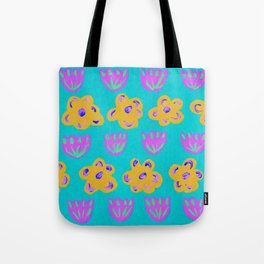 pattern with flowers Tote Bag