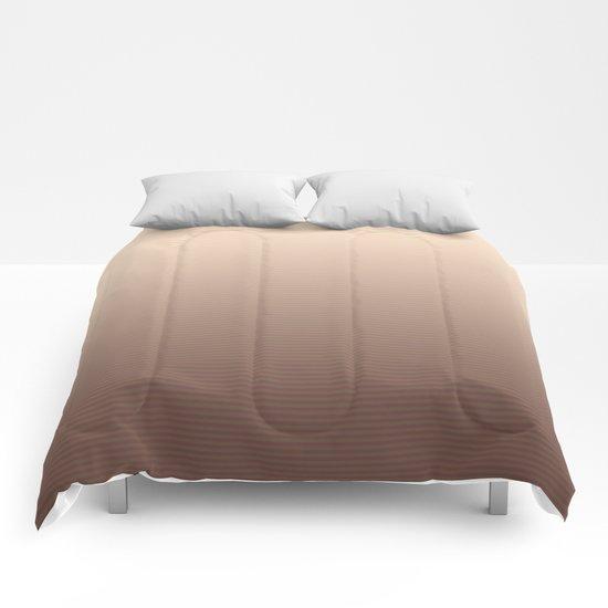 RoseGold Stripes Comforters