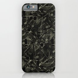 Abstract Collage Patchwork Pattern iPhone Case