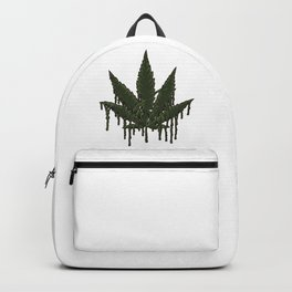 Melting Cannabis Leaf | Marijuana THC CBD Stoner Backpack
