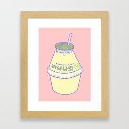 Banana Milk Framed Art Print
