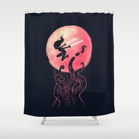 kraken Shower Curtains featuring Kraken by Freeminds